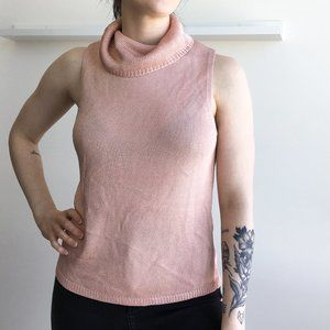 Josephine Chaus Pink Cowl Neck Sleeveless Top